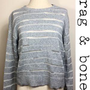 Rag & Bone Gray Crewneck Open Sweater